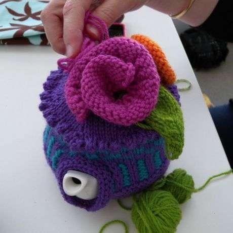تلبيسات ابريق الشاي tea-cosy-knitting.jp