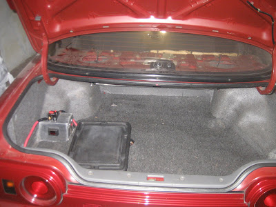 Battery relocation with display panel