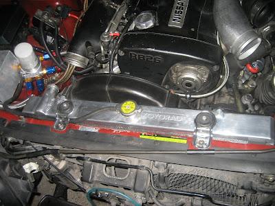 Nissan Radiator Bleed Flush Install
