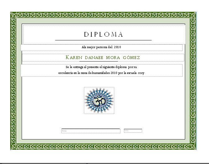 Plantillas De Publisher De Diplomas Preescolar | MEJOR CONJUNTO DE