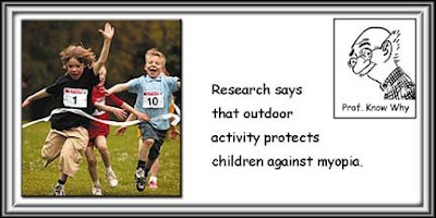Outdoor activity protects children from myopia