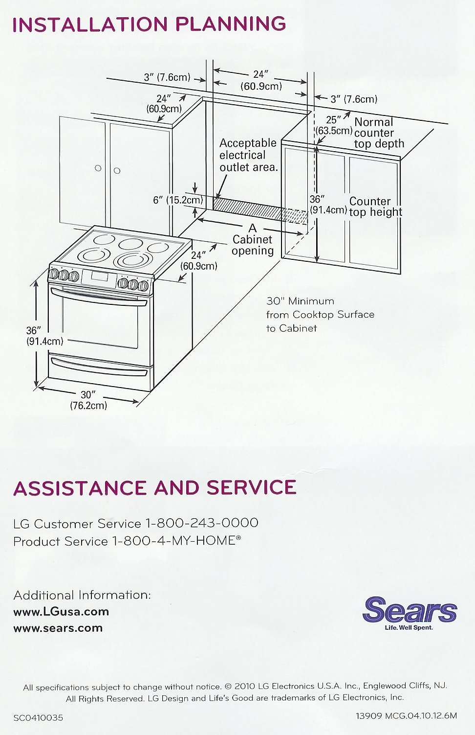 Appliance Information Lg Slide In Range