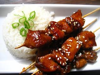 chicken yakitori recipe easy chicken yakitori grilled chicken mushroom ...