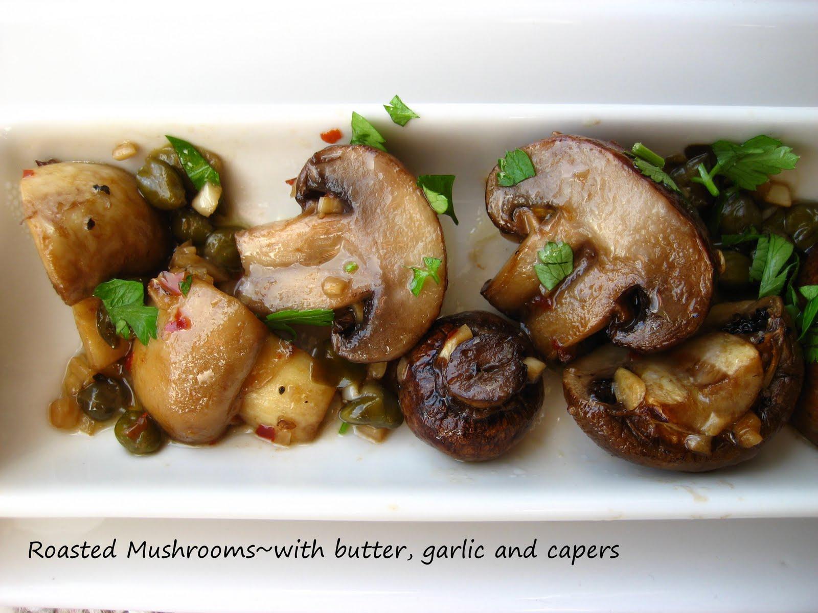 Garlic Butter Roasted Mushrooms Recipe — Dishmaps