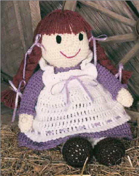 Free Beautiful Beginners Crochet Pattern: Pioneer Becky Doll