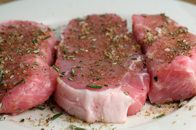 Pork Chops with Capers, Lemons and Mushrooms