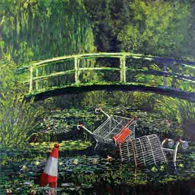 Banksy's Waterlillies