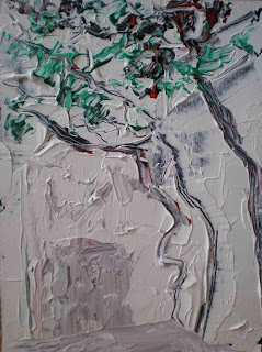 Garden tree in acrylic March 08