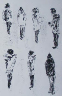 figures in snow