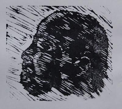 Dad, lino print 2005
