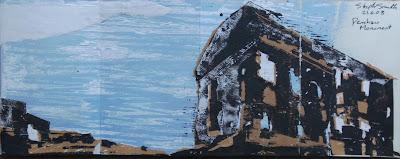 Penshaw Monument, June 08, acrylic lino print
