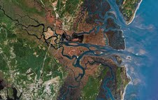 The Altamaha River Estuary and Sound - McIntosh and Glynn County border coastal area, GA