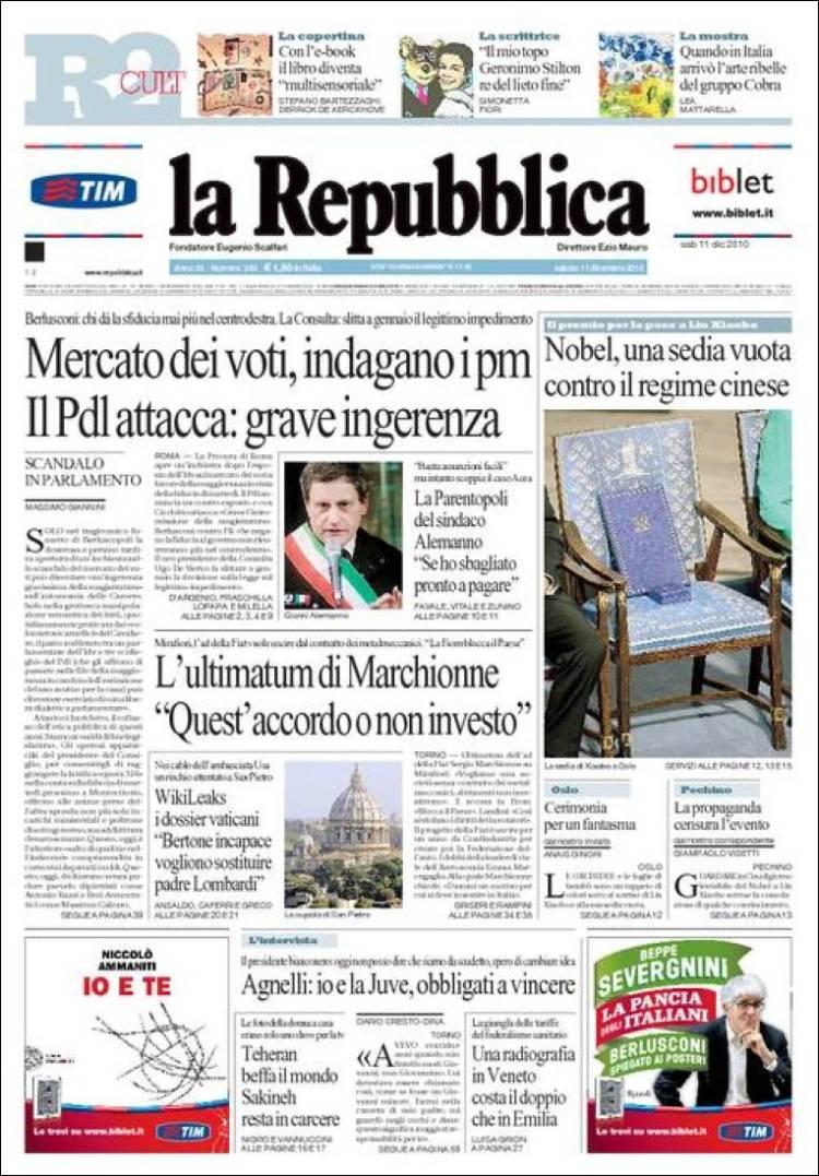 Pazzo per repubblica il blog dei feticisti di repubblica for Sito la repubblica