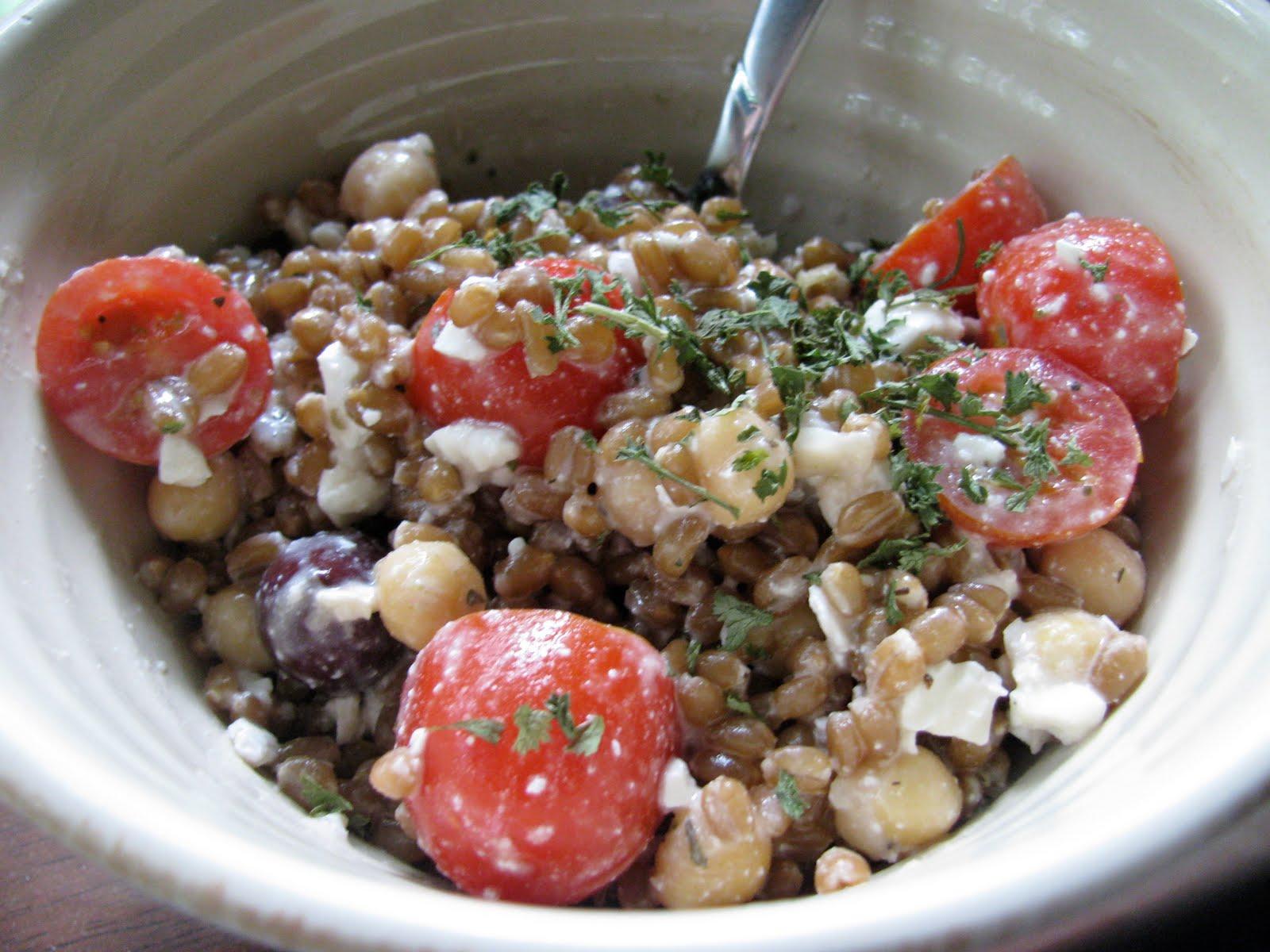 PB and Graham: Greek Wheat Berry Salad