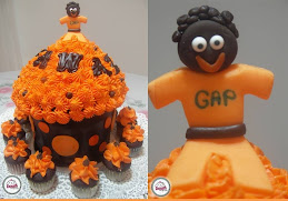 Orange Theme Giant Cupcake