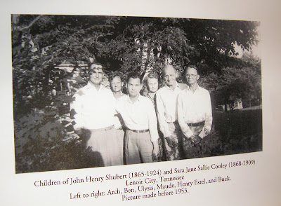 Children of John Henry and Sara Jane Sallie Cooley Shubert Lenoir City TN after 1953