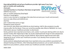 Boniva Side Effects
