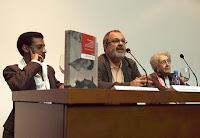 Presentación de `Intrusos en el paraíso. Los cineastas extranjeros en el cine cubano de los sesenta´, con (izda-dcha) Juan Antonio García Borrero, Casimiro Torreiro y Margarita Alexandre