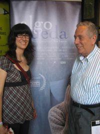 Ana con Adolfo, en la presentación en la filmoteca