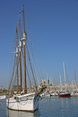A Tall Ship in Port Vell, Barcelona