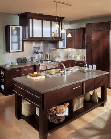 Lock 7 Development, LLC: Design- Dark Kitchen Cabinets