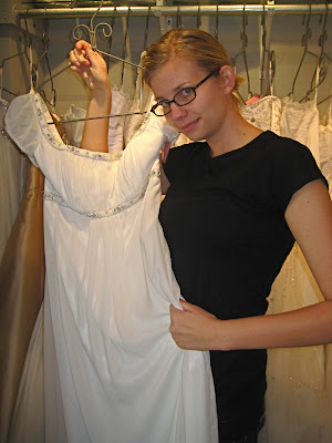 Ashley found her dress for her wedding or maybe a Jane Austen gala