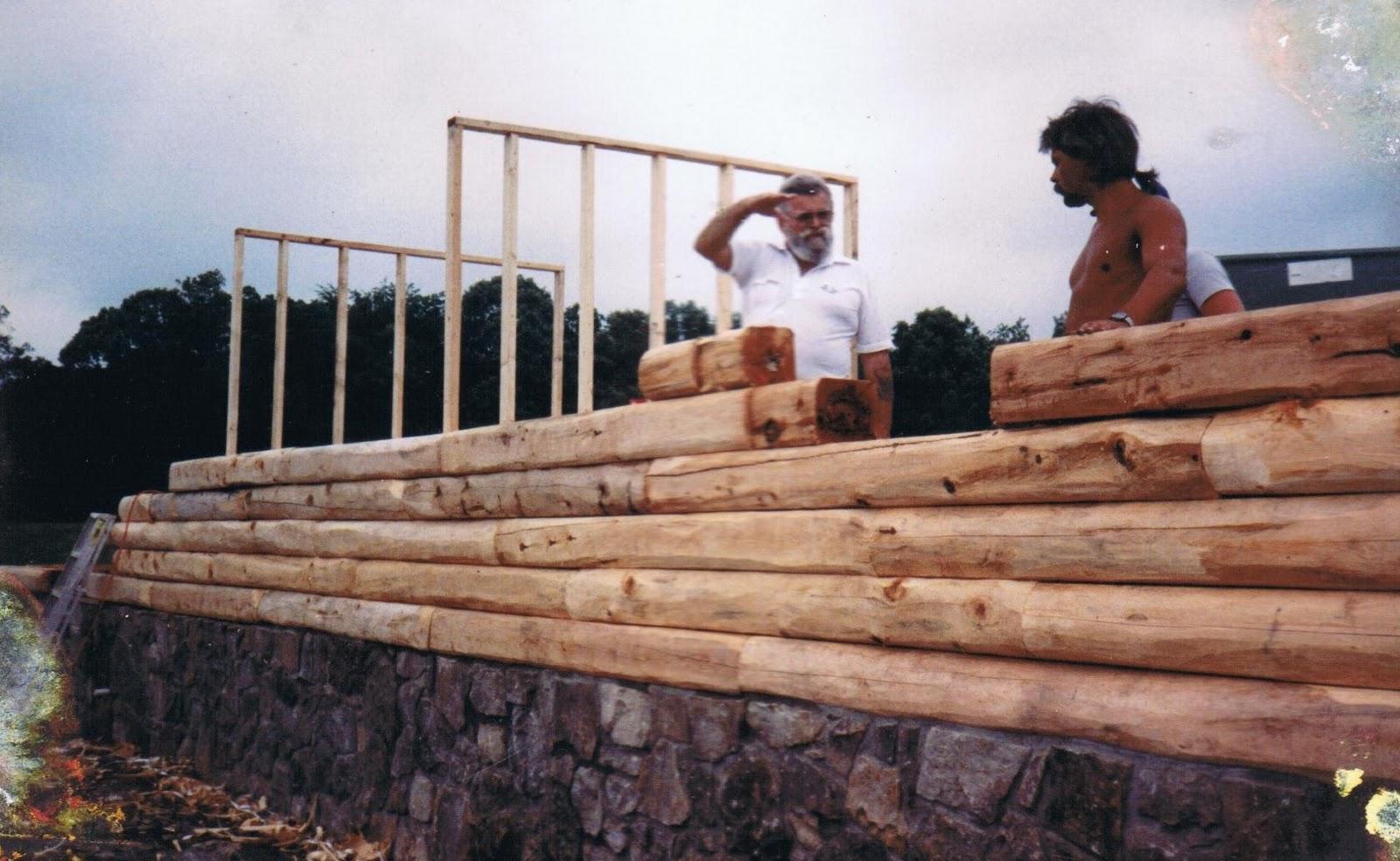 Patriot Log Home Builders Men At Work Photo Gallery