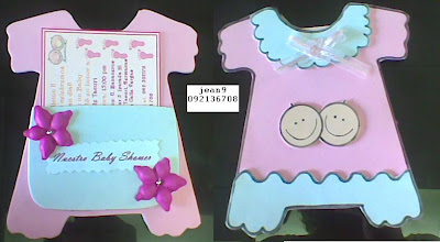 show room: BABY SHOWER invitacion goma eva