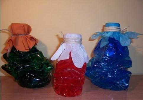 Paso a paso con jeannine decoracion con botellas plasticas - Decoracion con botellas ...