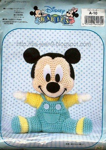 Las chorradikas de Laury: Patron Mickey Mouse amigurumi