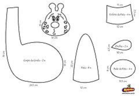 Moldes para jirafas bebés - Imagui