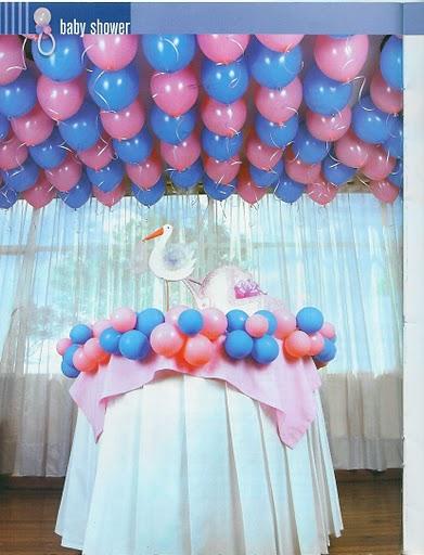 Paso a paso con jeannine decoracion baby shower globos - Decoracion con bombas para baby shower ...