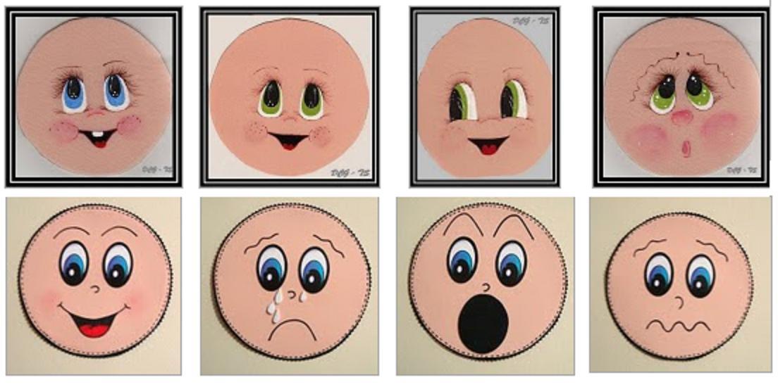 Plantillas para pintar las caras de las fofuchas - Imagui
