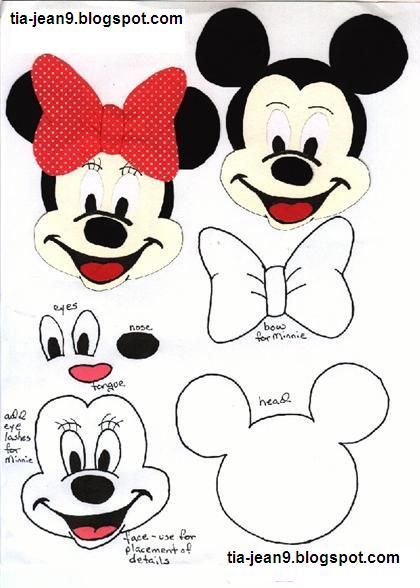 Molde De Mickey Y Minnie