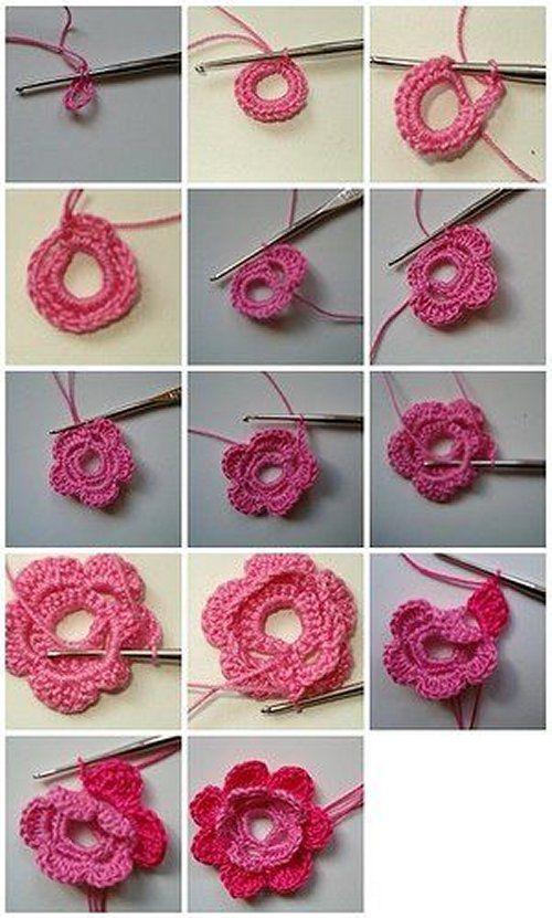 Flor a crochet paso a paso - Imagui