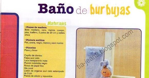 Lenceria De Baño Moldes:PASO A PASO CON JEANNINE: decoracion de CUARTO DE BAÑO PORTA ROLLO