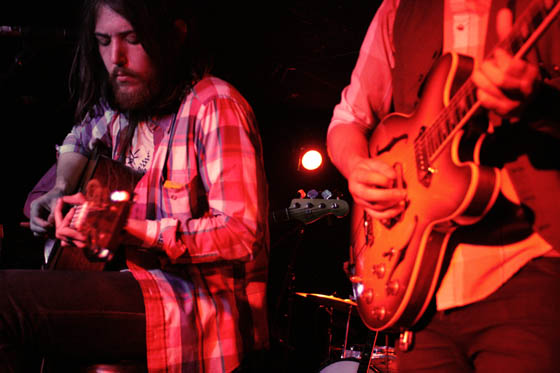 Fleet Foxes performing under the low light at Hi-Dive in Denver, Colorado.