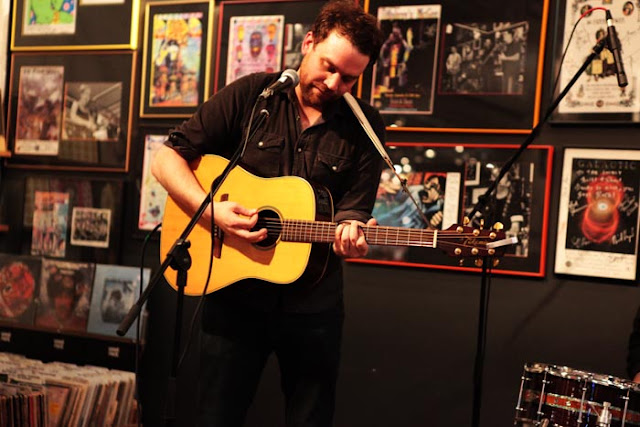 Frightened Rabbit during an in-store Denver concert at Twist and Shout.