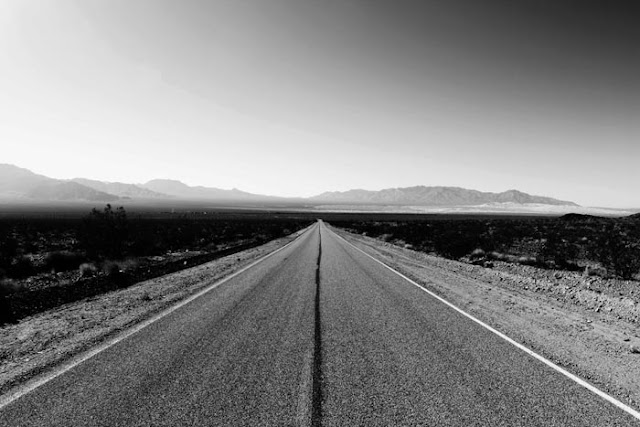 A beautiful and lonely, morning drive through the Mojave Desert.