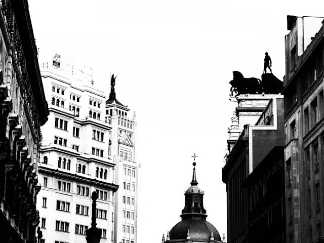 Cool rooftops in Madrid, Spain.