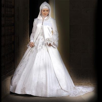 Womenwedding Attire on Split Coat Arab Wedding Dress