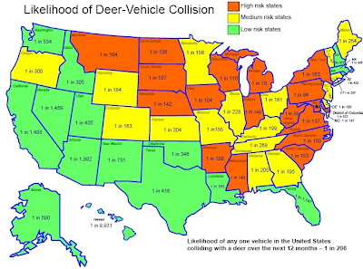 death by deer the map of impact