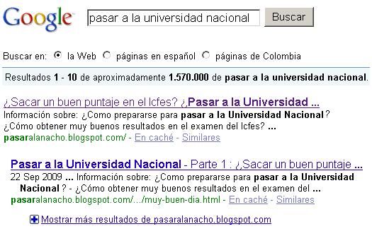 ¿Cómo pasar a la Universidad Nacional de Colombia?