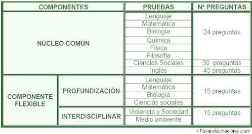 Estructura Antigua Examen de Estado Icfes