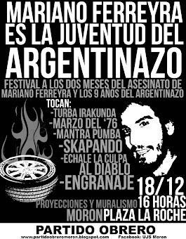 Rock y Música Popular. Sábado 18/12 en Plaza La Roche Morón