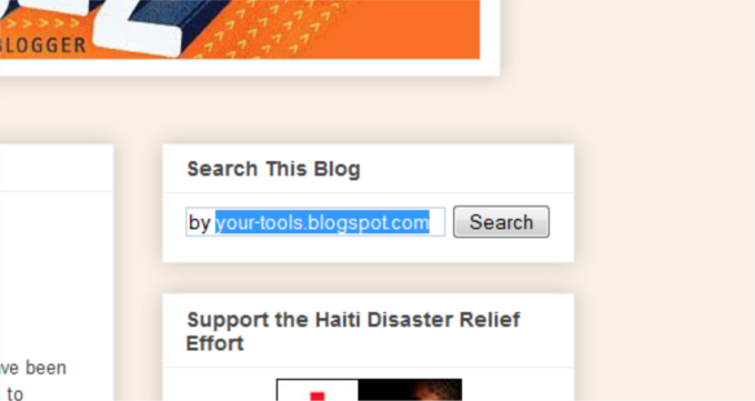 Install (Search Box) Widget in Blogspot & Blogger