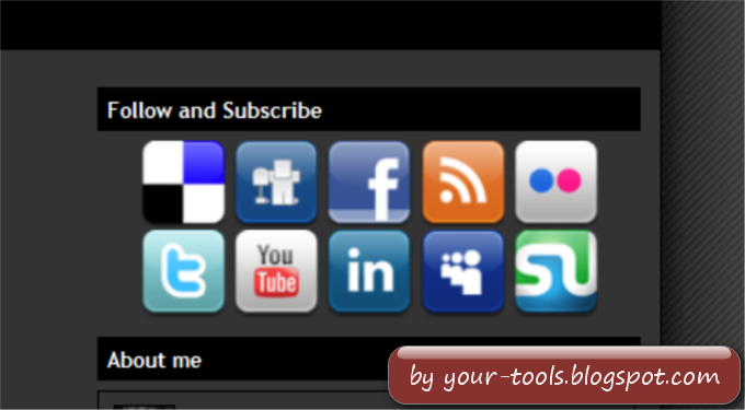 Follow and Subscribe Widget [Social Icons Tool]