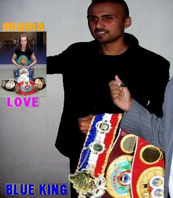 KING BOXE= BLUE I'DRISS KING CHAMPION =IBF +IBF +IBF