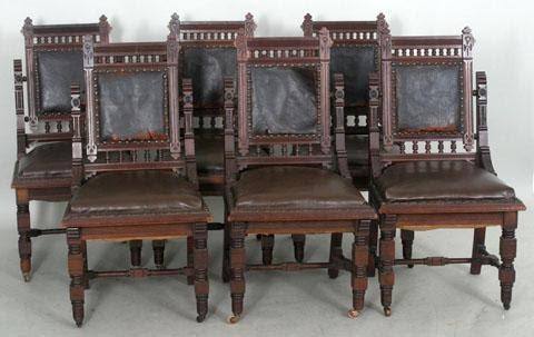 - George Hunzinger Furniture: Set Of Eastlake Chairs