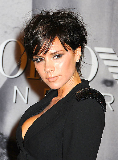 styles for short hair with bangs. victoria beckham short hair